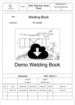 Welding Book for a Project, containing Welds, Drawings, PWHT Cycles, WPS